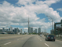 Via expressa Toronto Ontário Canadá de Gardiner Imagem de Stock