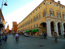 Via a Ferrara Fotografia Stock
