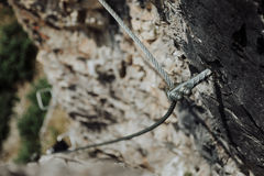 Via Ferrata Climbing In Austria royalty free stock images