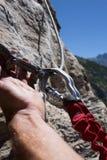 Via ferrata climbing Stock Photo