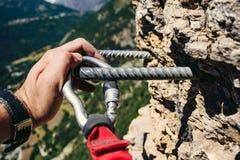 Via ferrata climbing Royalty Free Stock Photography
