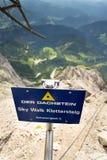 Via ferrata for climbing to Dachstein glacier top, Austrian Alps Stock Images