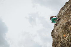 Via Ferrata die in Oostenrijk beklimmen stock afbeelding