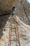 Via ferrata - iron ladder Stock Photo