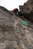 Via ferrata/ klettersteig climbing Royalty Free Stock Image