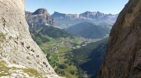Via Ferratta Tridentina, Dolomites, Italien Fotografering för Bildbyråer