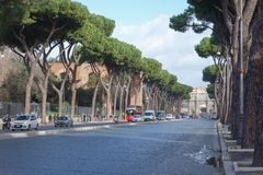 Via Fori Imperiali in Rome Royalty Free Stock Photography