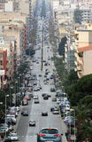 Via G.B. Fardella in Trapani - Sicily. Walking through the long and chaotic Via Giovan Battista Fardella in Trapani area for business and shopping - 19 January Stock Images