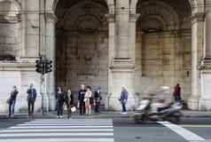 Via a Genova fotografie stock