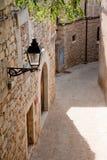 Via a Girona, Spagna fotografia stock