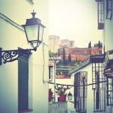 Via a Granada Immagini Stock