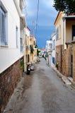 Via greca tipica Fotografia Stock Libera da Diritti