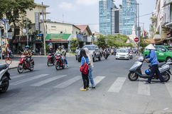 Via Ho Chi Minh, Vietnam dell'incrocio Immagine Stock