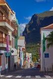Via idilliaca in vecchia città del silos di Los, Tenerife, Isole Canarie Fotografia Stock Libera da Diritti