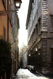 Via il dei Funari a Roma Immagine Stock Libera da Diritti