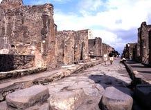 Via il dell Abbondanza, Pompei Immagine Stock Libera da Diritti