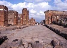 Via il dell Abondanza, Pompei Immagine Stock Libera da Diritti