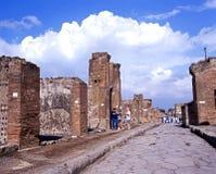 Via il dell Abondanza, Pompei Immagini Stock