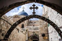 Via il dolorosa, Gerusalemme Fotografie Stock Libere da Diritti