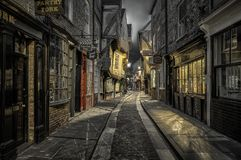 Via il macello a York, Inghilterra fotografie stock libere da diritti