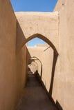 Via iraniana tradizionale in Yazd Immagine Stock