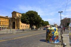 Via Italia di Bologna Immagini Stock Libere da Diritti