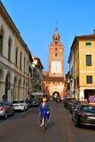 Via Italia di Treviso fotografia stock
