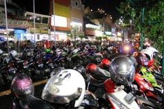 Via Jogyakarta Indonesia di Malioboro Immagine Stock