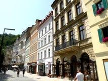 Via a Karlovy Vary Fotografia Stock Libera da Diritti