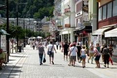 Via a Karlovy Vary 2 Fotografie Stock Libere da Diritti
