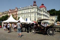 Via a Karlovy Vary 15 Immagine Stock