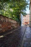 Via in Kazimierz Old Jewish Quarter a Cracovia fotografia stock libera da diritti