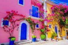 Via in Kefalonia, Grecia Immagine Stock