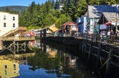 VIA KETCHIKAN DELL'INSENATURA DELL'ALASKA Fotografia Stock