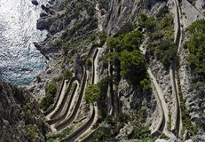 Via Krupp - Capri royalty-vrije stock afbeeldingen