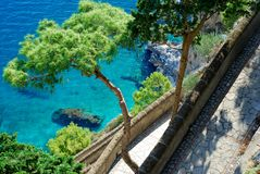 Via Krupp at Capri Island Royalty Free Stock Images
