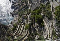 Via Krupp Capri Island Royalty Free Stock Images