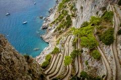 Via Krupp on Capri island in Italy Royalty Free Stock Image
