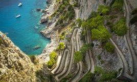 Via Krupp on Capri Island in Italy Stock Photos