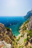 Via Krupp on Capri island Royalty Free Stock Photo