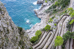 Via Krupp in Capri Italië 1 royalty-vrije stock fotografie
