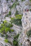 Via Krupp en Toeristen in Capri Italië 1 royalty-vrije stock fotografie