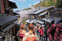Via, Kyoto, Giappone Fotografia Stock Libera da Diritti