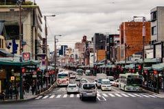 Via a Kyoto, Giappone Fotografia Stock Libera da Diritti