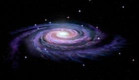 Via Láctea da galáxia espiral ilustração royalty free