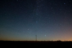 Via Látea Céu noturno bonito do verão com estrelas Imagem de Stock Royalty Free