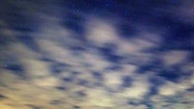 Via Látea em torno da estrela do polo Lapso de tempo 4K vídeos de arquivo