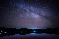 Via Látea, a galáxia fotografia de stock