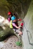 Via la scalata klettersteig/di ferrata Immagine Stock Libera da Diritti