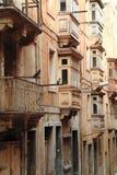 Via a La Valletta, Malta Fotografia Stock